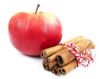 Apple And Cinnamon Royalty Free Stock Images