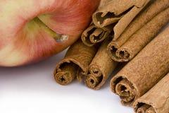 Free Apple And Cinnamon Sticks Royalty Free Stock Photo - 2848985