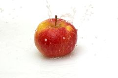 Apple And Fresh, Clean Water. Stock Photo