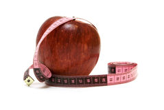 Apple And Measure Stock Photo