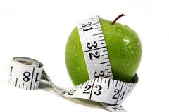 Free Apple And Measurement Tape Royalty Free Stock Photography - 1183767