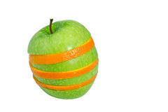 Apple And Orange Slices Stock Photos