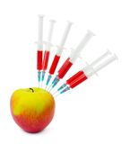 Apple And Syringes Royalty Free Stock Photo