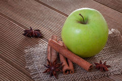 Apple with anise and cinnamon Stock Image