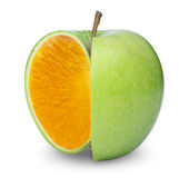 Apple apelsin Royaltyfri Foto