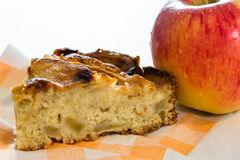 Apple and apple cake Royalty Free Stock Image