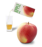Apple and apple juice Stock Photo