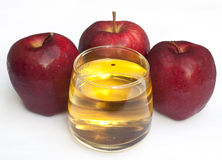 Apple and apple juice Royalty Free Stock Image