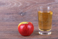 Appel with juice Stock Photography
