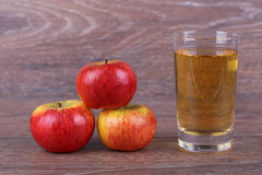 Appel with juice Royalty Free Stock Image