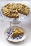 Apple Apples Cake Pie Stand Glass Slice Plate stock photo