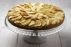 Apple Apples Cake Pie Stand Glass Stock Images