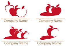 Apple, apples. Line art logo, icon set Stock Image