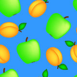 Apple and apricot Stock Images