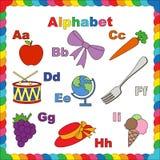 Apple, arc, carotte, tambour, la terre, fourchette, raisin, chapeau Photographie stock libre de droits