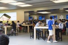 Apple armazena em Shanghai China fotos de stock royalty free