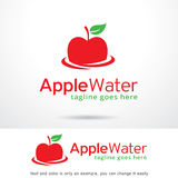 Apple arrosent Logo Template Design Vector Images stock