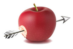Apple with arrow Royalty Free Stock Photography