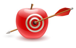 Apple and arrow Royalty Free Stock Image
