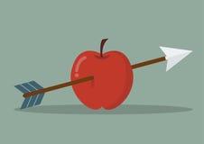 Apple with arrow Royalty Free Stock Photos