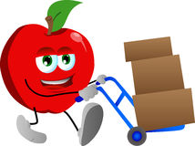 Apple as delivery man Royalty Free Stock Photography