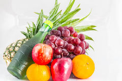 Apple and assorted fruits Stock Photography
