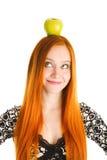Apple auf dem Kopf Stockfotografie