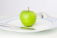 Apple auf Platte Lizenzfreies Stockfoto