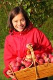 Apple autumn girl Royalty Free Stock Photo