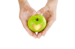 Apple avec amour Photo stock