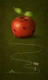 Apple avec des trous. Image stock