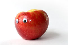 Apple avec des yeux de Google Image stock