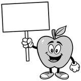 Apple avec l'illustration de signe Photo stock