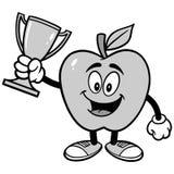 Apple avec l'illustration de trophée Image stock