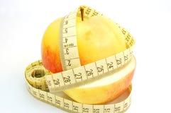 Apple avec la bande #2 de mesure Image libre de droits