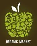 Apple avec la configuration de fruits et légumes Images libres de droits