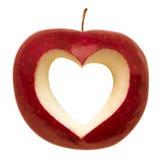 Apple avec la forme de coeur Images libres de droits