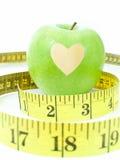 Apple avec un coeur Photo libre de droits