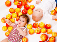 Apple babies Royalty Free Stock Photo