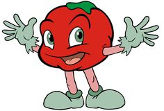 Apple Baby. A fruit character Royalty Free Stock Images