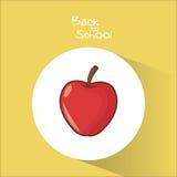 Apple of back to school design Stock Photo