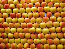Apple background. Fruit and vegetables on a market - Mercat de la boqueria (La Rambla), Barcelona Royalty Free Stock Photos