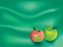 Apple Background. Vector image of green and red apple on Royalty Free Stock Photo