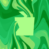 Apple background. Abstract apple on green background royalty free illustration