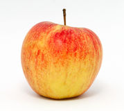 apple background delicious drops fresh has healthy isolated organic red shadow slight stem water white Стоковые Фото