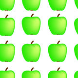 Apple background. Background from green apples on white royalty free illustration