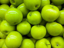 Apple background. Green apple background,Fresh fruit Stock Photography