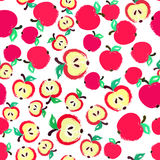 Apple Background Painted Pattern Royalty Free Stock Image