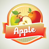 Apple badge. For packaging or other product Stock Image