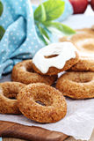 Apple baked donuts with glaze Royalty Free Stock Photos